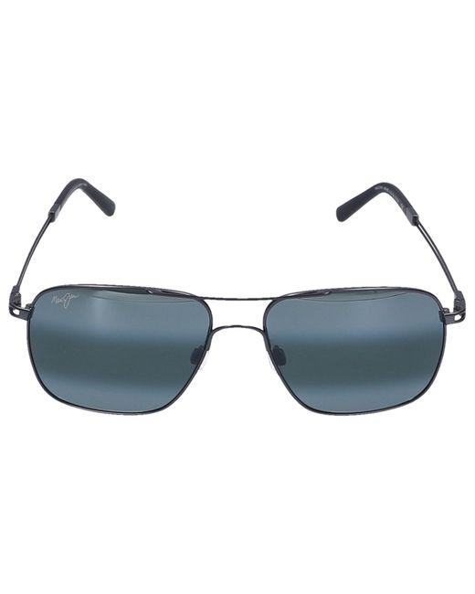 Maui Jim Multicolor Sunglasses Aviator Haleiwa Titan Black for men