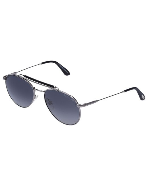 ac20fc2748 ... Tom Ford - Metallic Sunglasses Aviator 338 Metal Silver for Men - Lyst  ...