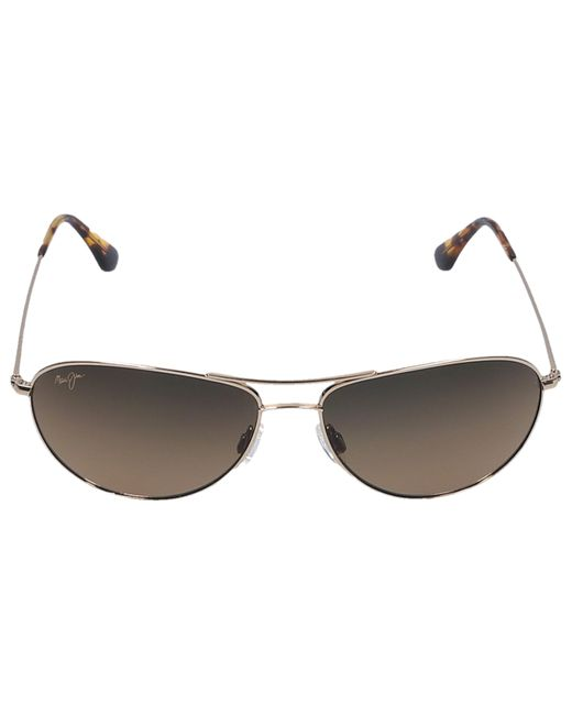 Maui Jim Metallic Sunglasses Aviator Sea House 16 Titan Gold for men
