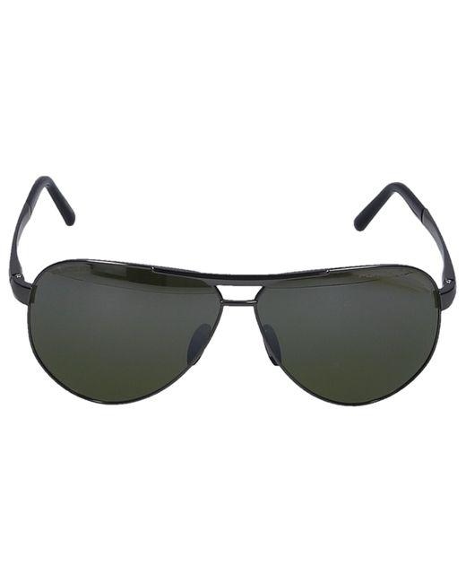 Porsche Design Multicolor Sonnenbrille Aviator 8649 I Titan Silber Schwarz for men