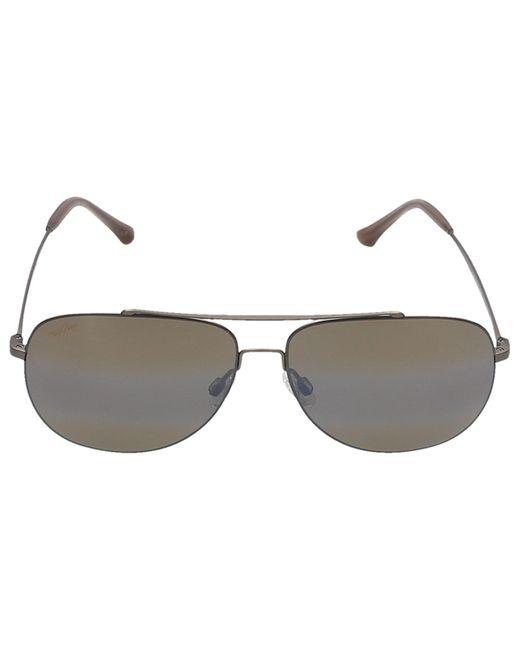 Maui Jim Multicolor Sunglasses Aviador Cinder Cone 16m Titan Bronze