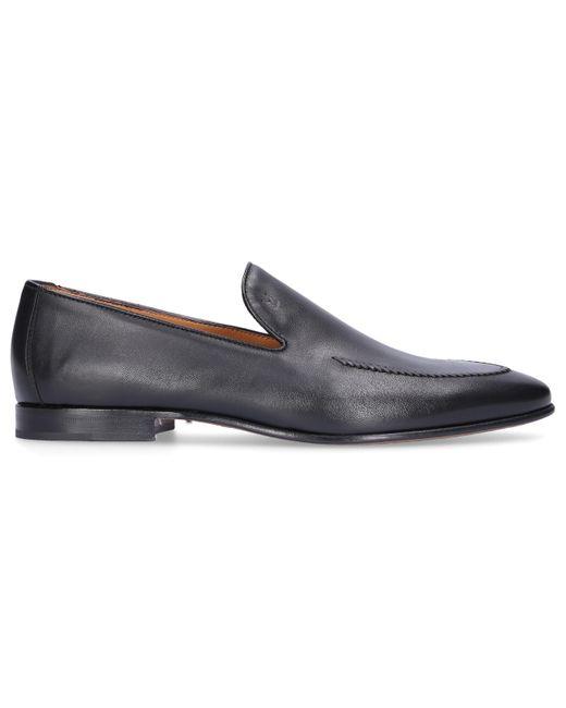Moreschi Black Loafers Saratoga for men
