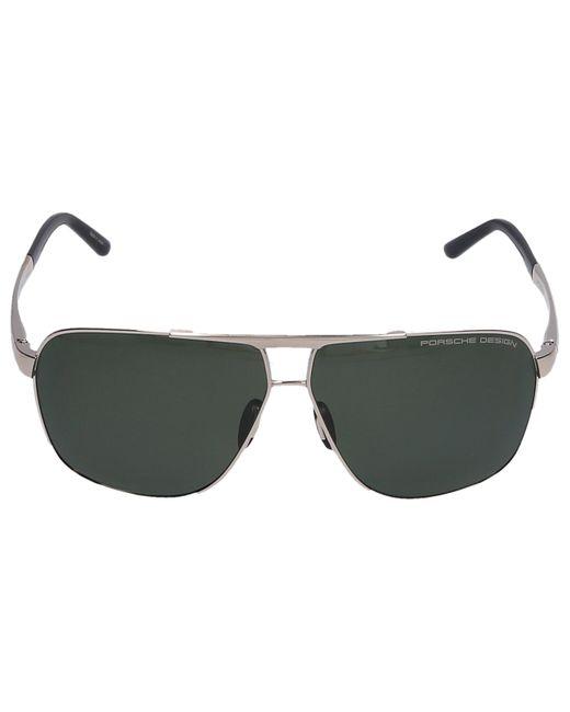 Porsche Design Metallic Sunglasses Aviador P8665 B 63/10 Titan Gold for men