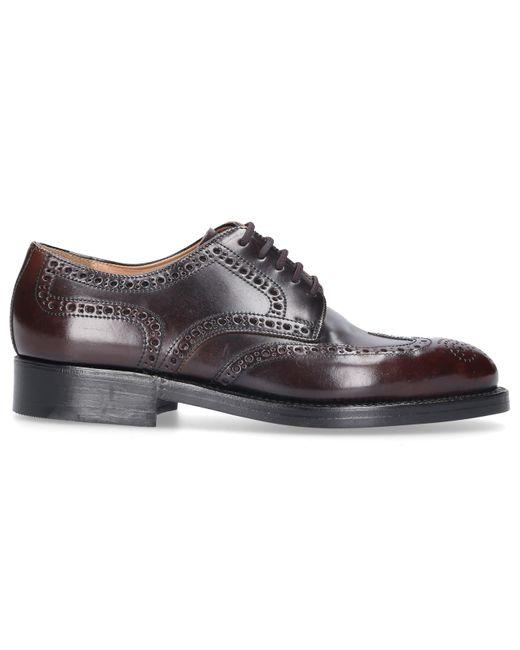 Heinrich Dinkelacker Red Business Shoes Derby Oxblood Cordovan Leather for men