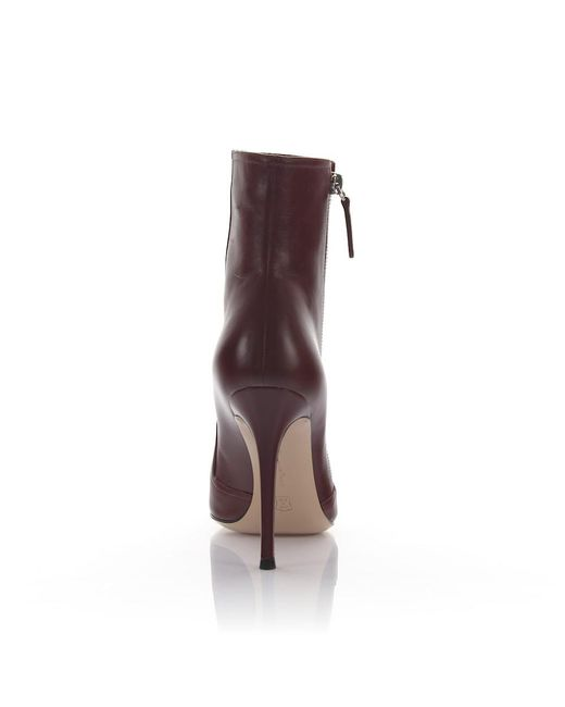 Gianvito Rossi Boots G70050 leather bordeaux A5P64jYFSQ