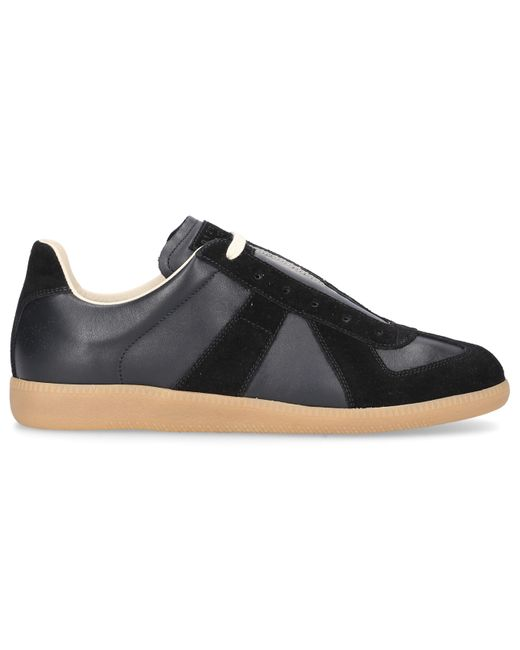Maison Margiela Black Low-top Sneakers Replica Calfskin for men