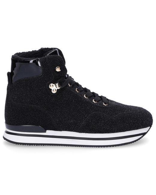 Hogan Leather High-top Sneakers H222 Glitter Logo Black - Save 40 ...