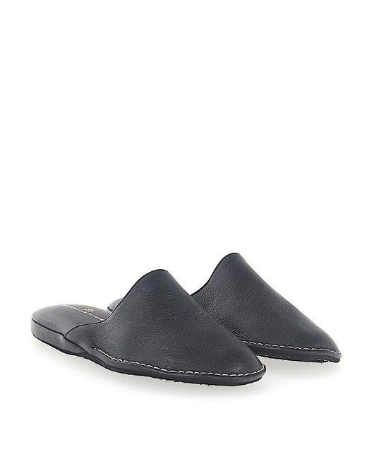 Artioli - Slippers Pantoletten Kadett Leather Black for Men - Lyst