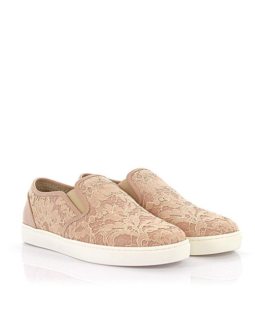 Dolce & Gabbana - Natural Slip-on Sneaker Cap Toe Beige - Lyst