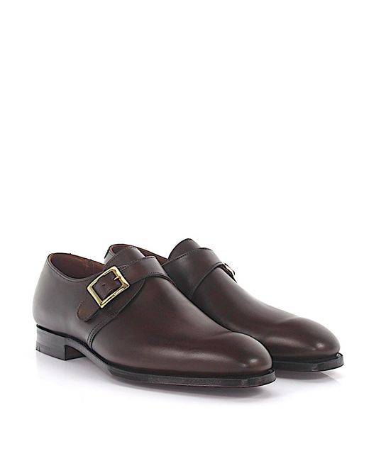 Crockett and Jones - Simple-monk Savile Leather Brown for Men - Lyst