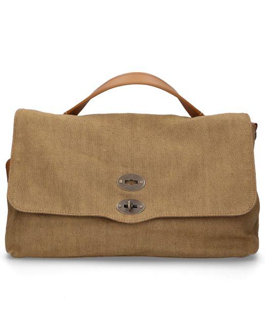 Zanellato Green Women Handbag Canvas Canvas Logo Khaki