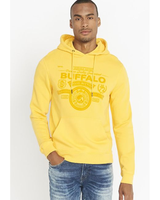 Buffalo David Bitton Mens Kubell Short Sleeve Hooded Top