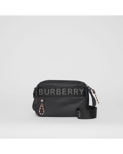 Sac à bandoulière avec logo Burberry pour homme en coloris Black