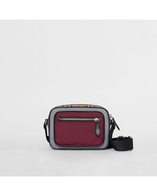 909859110ba0 Burberry - Multicolor Colour Block Vintage Check Crossbody Bag for Men -  Lyst ...