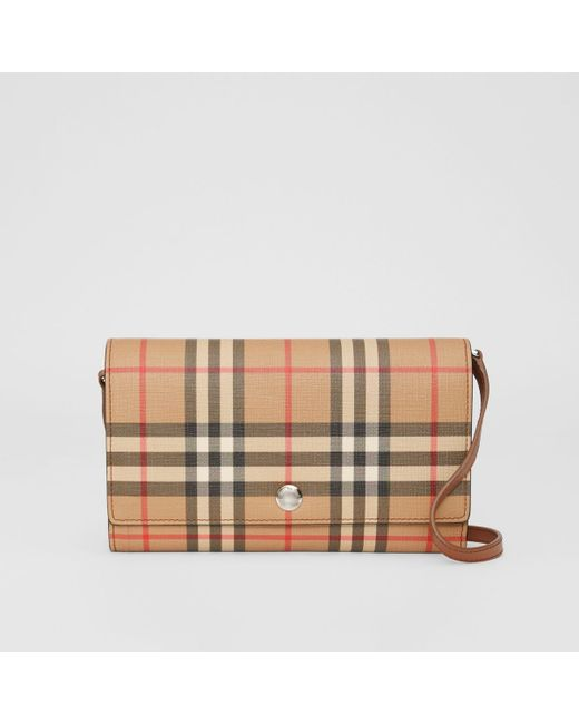Burberry Brown Hanna Vintage Check Crossbody Bag