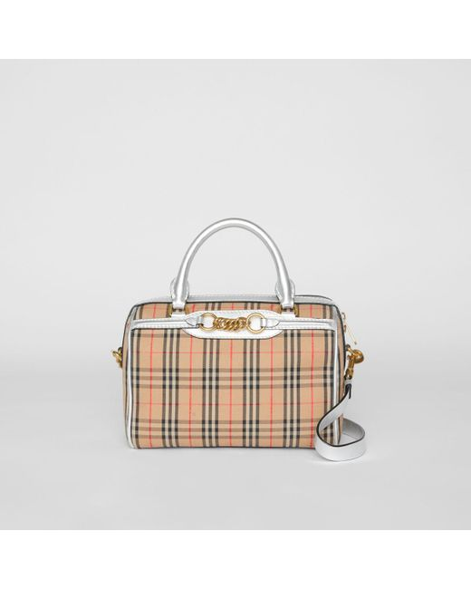 ad4c43c2cba0 Burberry - Metallic The Small 1983 Check Link Bowling Bag - Lyst ...