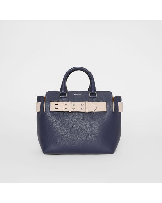 37943ccdf721 Burberry - Blue The Small Leather Belt Bag - Lyst ...