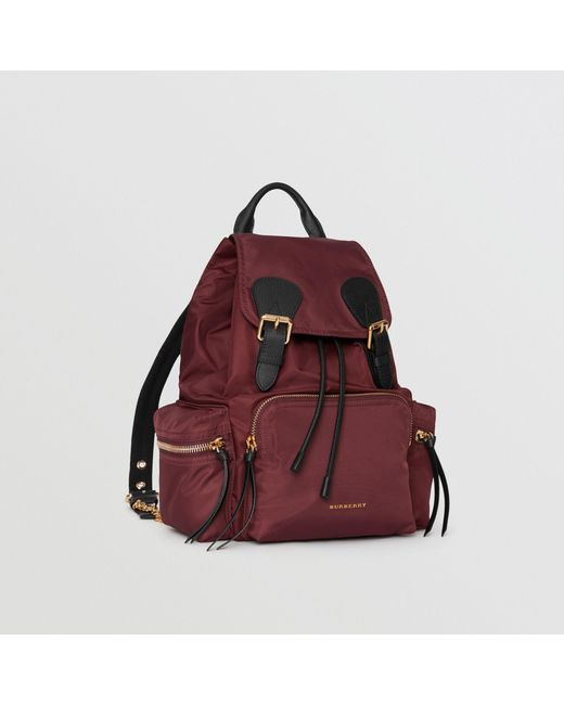 5d21d6c3d4a7 ... Burberry - Brown The Medium Rucksack In Technical Nylon And Leather -  Lyst ...