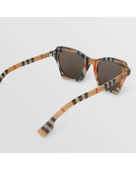 fd8248de6d7 ... Burberry - Multicolor Vintage Check Butterfly Frame Sunglasses - Lyst