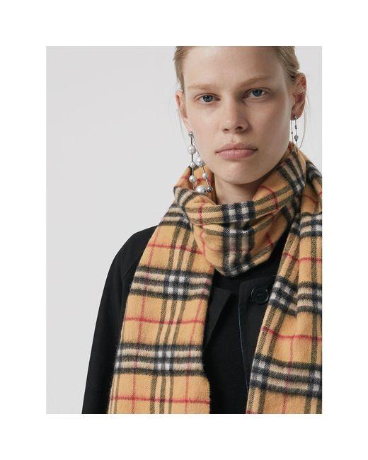 ... Burberry - Multicolor Écharpe classique en cachemire à motif Vintage  check for Men - Lyst ... 4f92171a94e