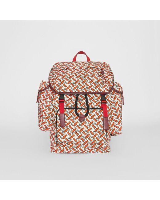 cb0a022a344d Burberry - Multicolor Medium Leather Trim Monogram Print Backpack for Men -  Lyst ...