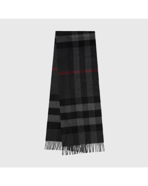 Grande écharpe classique en cachemire à motif check Burberry en coloris Multicolor