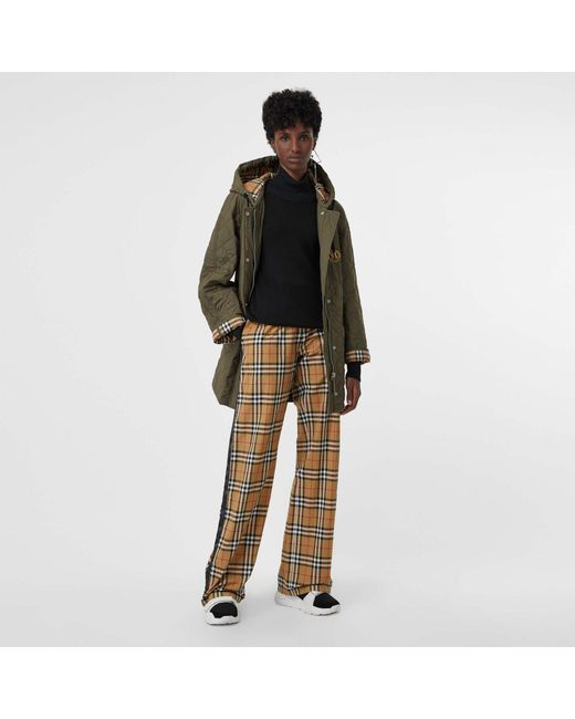 52f88a5b8 Burberry Vintage Check Cotton Drawcord Trousers - Save 22% - Lyst