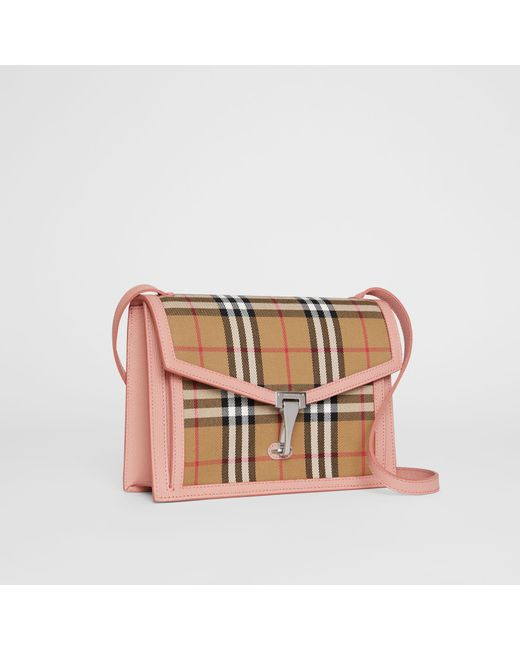 5593b42dd6d6 ... Burberry - Multicolor Small Vintage Check And Leather Crossbody Bag -  Lyst ...