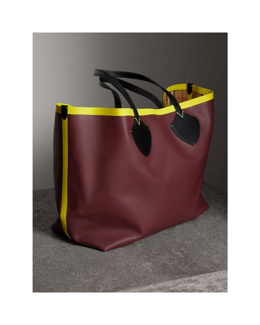 ... Burberry - Multicolor The Giant Reversible Tote In Vintage Check And  Leather for Men - Lyst ... 6d87ab576f