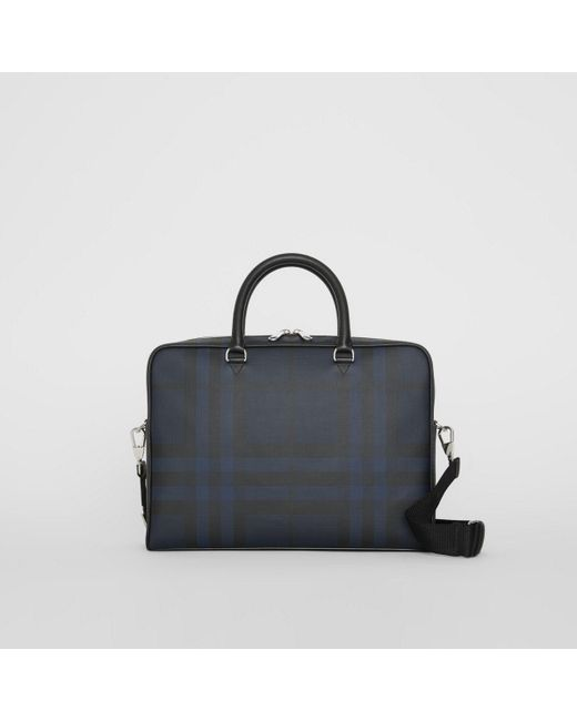 b6c994646ad3 Burberry - Blue Large London Check Briefcase for Men - Lyst ...