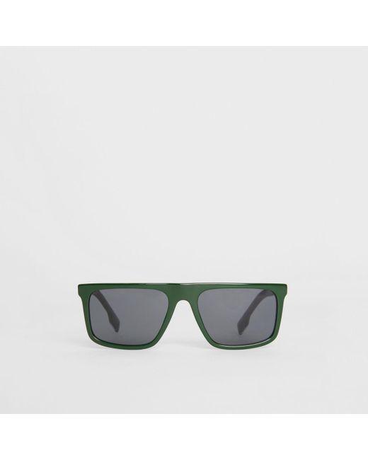 61f315ed3e5 Burberry - Green Straight-brow Sunglasses for Men - Lyst ...