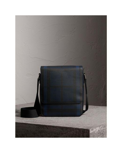 Burberry - Blue London Check Crossbody Bag Navy/black for Men - Lyst