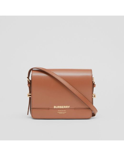 Burberry Brown Horseferry Leather Shoulder Bag