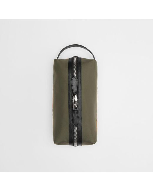 e70c379c9a0a Burberry - Green Vintage Check And Colour Block Pouch for Men - Lyst ...