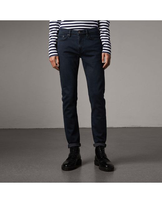 Burberry - Blue Slim Fit Stretch Denim Jeans for Men - Lyst