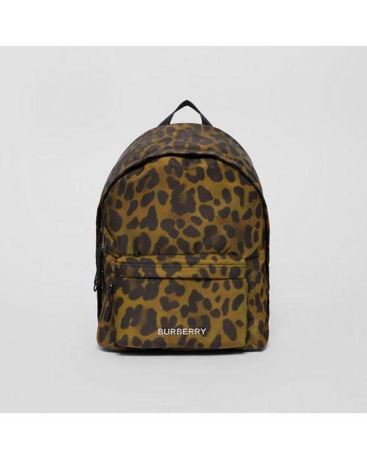 307fa0ee3 Sac à dos en nylon à imprimé léopard Burberry pour homme en coloris ...