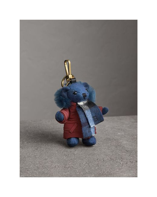 Burberry | Blue Thomas Bear Charm In Puffer Coat And Scarf | Lyst