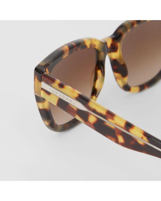 716457e8dd5 ... Burberry - Brown Square Frame Sunglasses - Lyst ...