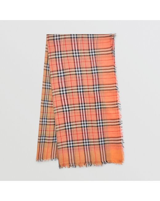 Burberry - Multicolor Two-tone Vintage Check Cotton Square Scarf for Men - Lyst