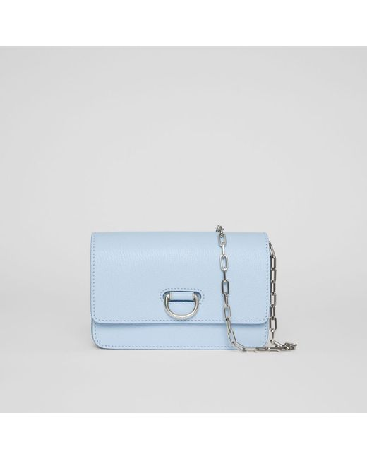 1f27dd6bce00 Burberry - Blue The Mini Leather D-ring Bag - Lyst ...