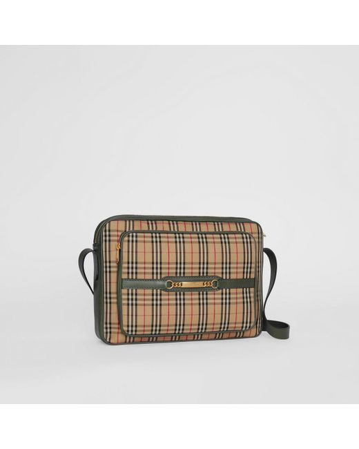 d7f4f0268f ... Burberry - Green The Large 1983 Check Link Camera Bag for Men - Lyst ...