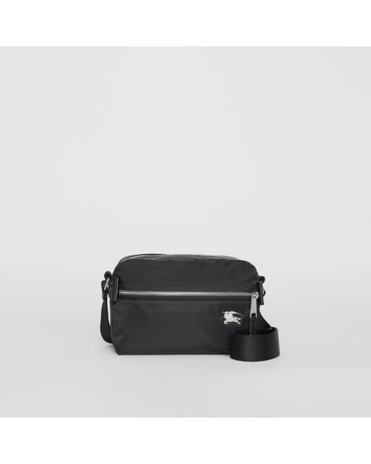 761889c449aa Burberry - Black Ekd Aviator Nylon And Leather Crossbody Bag for Men - Lyst  ...