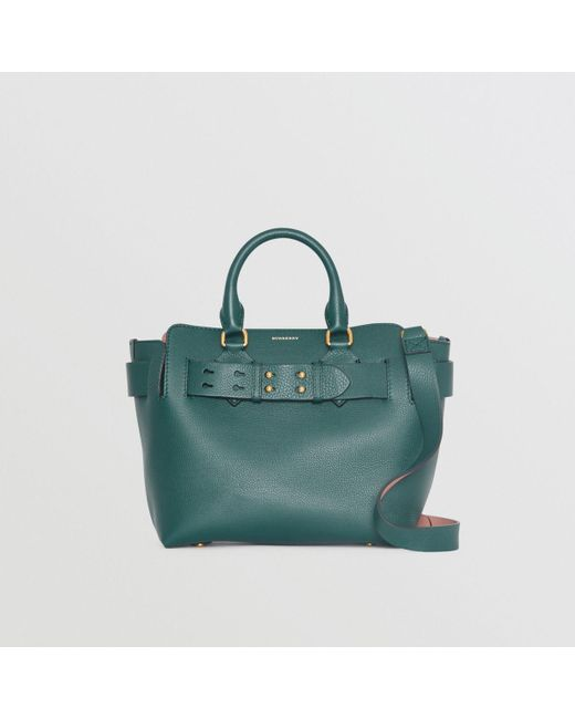 a53702723d29 Burberry The Small Leather Belt Bag in Green - Save 13% - Lyst