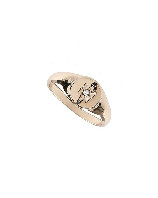 Burton - Metallic Gold Signet Ring for Men - Lyst