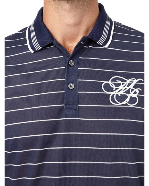 6c49737c ... Burton - Blue Navy And Ecru Striped Mb Embroidery Polo Shirt for Men -  Lyst ...
