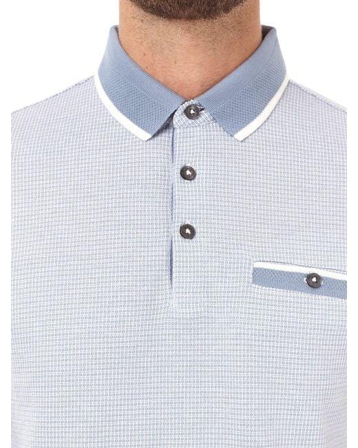 ea58d509 ... Burton - Light Blue Grid Jacquard Polo Shirt for Men - Lyst ...
