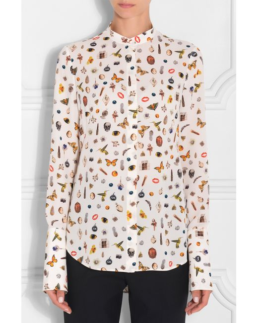 alexander mcqueen printed long sleeve shirt lyst