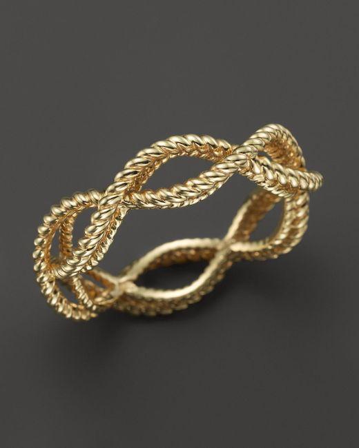 Roberto Coin   Metallic 18k Yellow Gold Single Row Twisted Ring   Lyst