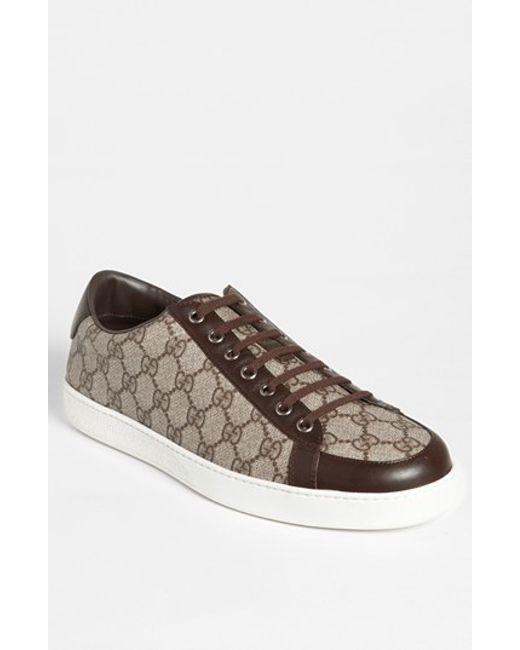 Gucci | Brown 'brooklyn' Sneaker for Men | Lyst