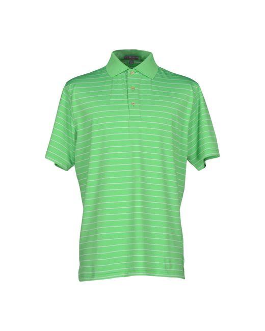 Peter millar polo shirt in green for men lyst for Peter millar polo shirts